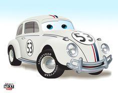 Herbie: 7 Famous Movie Cars Redone As Pixar Characters