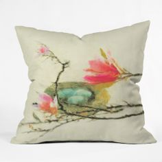 Hadley Hutton Magnolia Nest Throw Pillow | DENY Designs Home Accessories