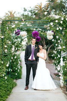 grooms look, except white tie on groom and color ties for groomsmen.