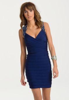 Short Beaded Dress from Camille La Vie and Group USA modeled by Aliana Lohan #homecomingdresses #dresses