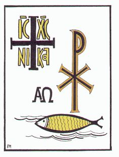 "The ""IC XC Nika"":  comes from Ancient Greek and was a widespread ancient Christian Symbol which is nowadays still present in the Eastern Orthodox Churches. IC XC Nika literally translated to english means ""IC XC = Jesus Christ, NIKA = Glory to"". In other words translated to modern english IC XC NIKA means Glory be to Jesus Christ!"