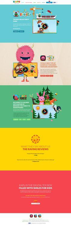 Kapu Toys #website #design