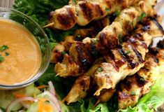 Authentic Chicken Satay Coconut Peanut Sauce Recipe | Thai Recipes | Savory Sweet Life - Easy Recipes from an Everyday Home Cook.