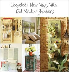 Upcycled window shutters