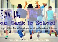Saving on Back to School - Sunshine and Hurricanes