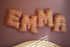 13-Inch Alphabet Pillow Letters, I can make these.
