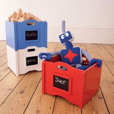 blackboard stacking storage toy crates £26 each ~ GLTC
