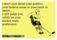Hockey Judgement