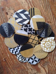 Delta Girl Distressed Frames Metallic party coasters