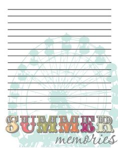 Summer Memories Journal Printable