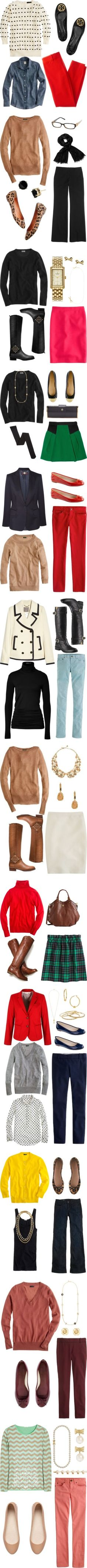 This is totally preppy, but I think I have a lot of these pieces and I could make this work!