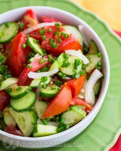 Cucumber and Tomato Salad Recipe | NatashasKitchen.com