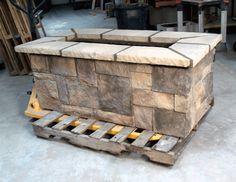 "stone gas fire pits | 61"" x 31"" Rectangle Custom Stone Fire Pit"