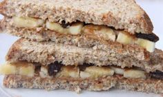 Nut Butter Banana Raisin Sandwich