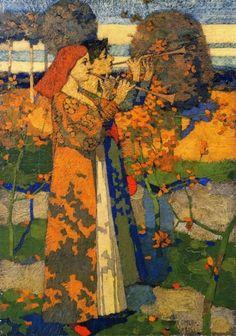 ♪ The Musical Arts ♪ music musician paintings - David Gauld(1865-1936) - Music in Japan, 1888