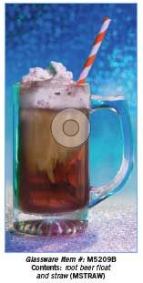 Create a tasty treat with a root beer float in your glasses. Don't forget a fun straw!