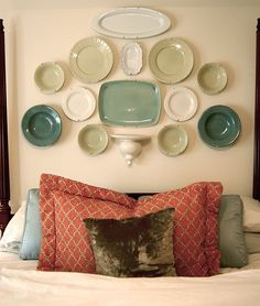 like the plates configuration, but not for a headboard