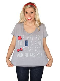 Fezzes Are Red Scoop Neck Relaxed Fit Ladies' Tee