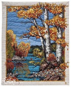 Art Quilts Landscapes | Quilts - Landscape Art / Beading Artistry for Quilts by Miriam Ioana