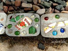 DIY garden decorative edging blocks or stones.