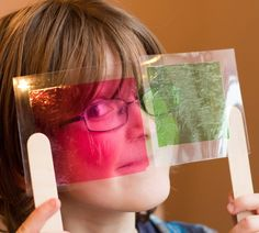 Sweet wrapper science, a fun way to explore colour mixing and light from My Little 3 and Me.