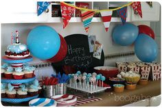 Fabulous Dr. Seuss Party photography decor food games, list of where she got everything
