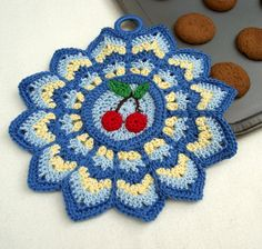 crochet doily     THIS WOULD MAKE A NICE HOT PAD ALSO    M