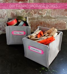 credit: Brett Bara DIY Fabric Boxes. I could make as many as I wanted now or in the future.