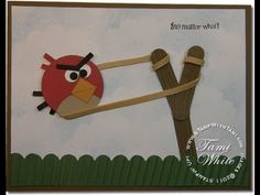 Angry Birds Musical Card - Stampin' Up!