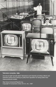 Test of television consoles, 1960.