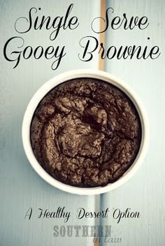 Single Serve Healthy Brownie - Microwave or Oven (only cocoa powder and applesauce!)