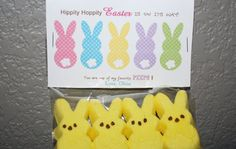 You're one of my favorite PEEPS!  Easter Bag Topper - great for daycare/preschool/coworkers