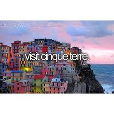 Regret not going when I lived in Roma #bucketlist #beforeidie #cinqueterre
