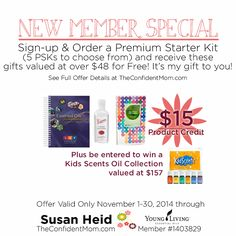 November Special for new Young Living Members with a Premium Starter Kit - it's the best time to join!!  | TheConfidentMom.com