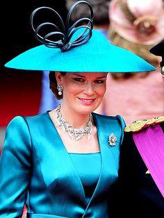 Princess Mathilde of Belgium, Duchess of Brabant, at the wedding of Prince William and Kate Middleton