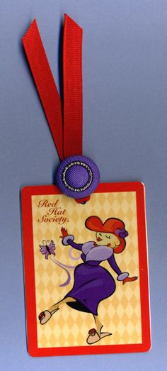 Cute - Red Hat Society bookmark