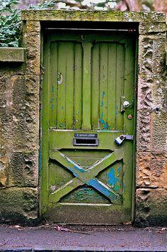 fantastic green door.