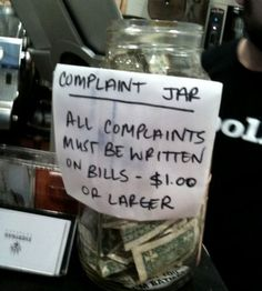 funny signs, offices, the office, funni, hous, complaint jar, desk, kids, jars