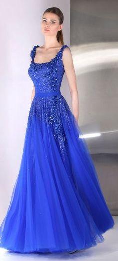 Tony Ward, royal blue gem. Pretty much the most gorgeous dress I have ever seen. O_O