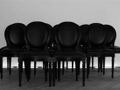 chair inspiration Hedi Slimane black chairs