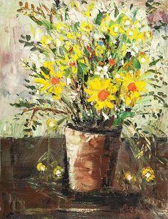 Pro Hart Flowers 1982