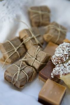 .....brown paper packages wrapped up in string