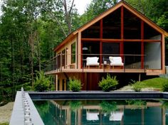 Hudson Woods eco-house in the Catskills http://bit.ly/1tc7aBK