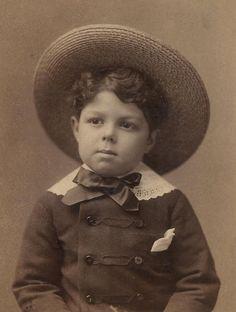 Little boy blue in Sepia.
