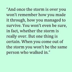 once the storm is over... life, wisdom, thought, true, inspir, word, storms, quot, live