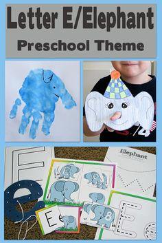 Mommy's Little Helper: Letter E/Elephant Preschool Theme