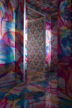 RGB - le metamorfosi  (wallpaper installation)