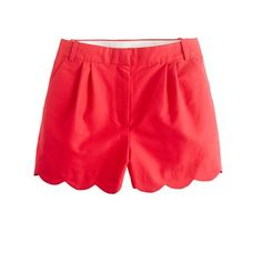 Color Rojo - Red!!! scalloped shorts