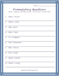 Ms. Lane's SLP Materials: Expressive Language-Formulating Questions. Pinned by SOS Inc. Resources.  Follow all our boards at http://pinterest.com/sostherapy  for therapy resources.