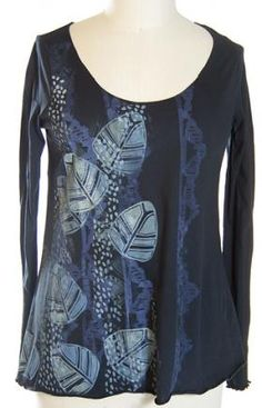 Lightweight Long Sleeve Tissue Tee Printed : Blue Fish Clothing